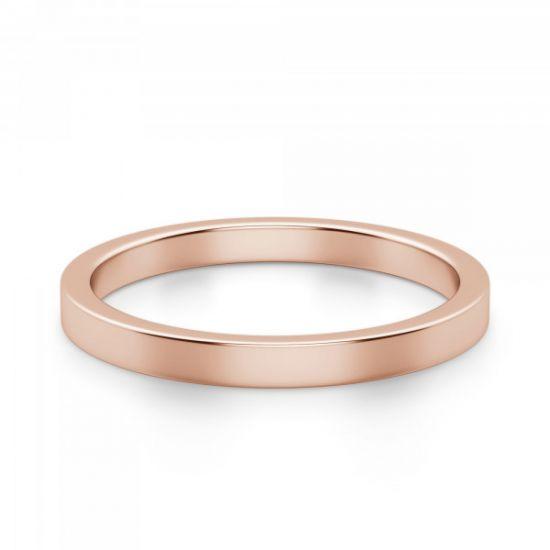 Золотое кольцо простое 3 мм,  Больше Изображение 2