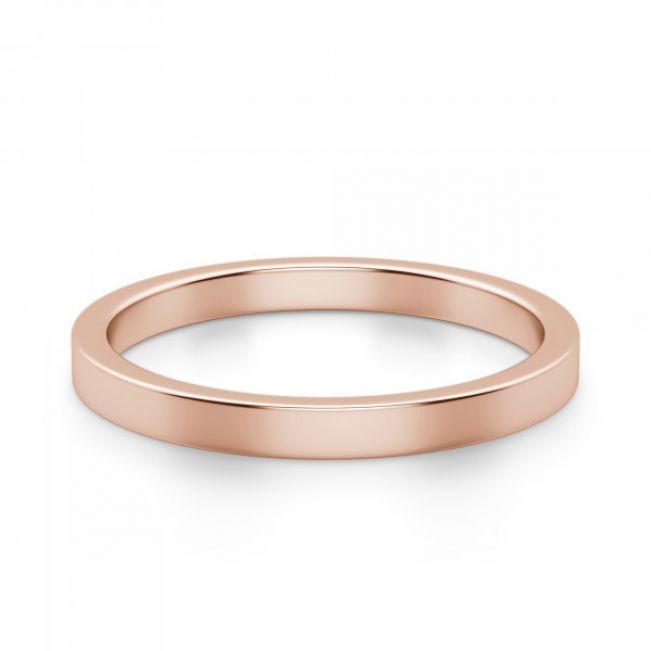 Золотое кольцо простое 3 мм - Фото 1