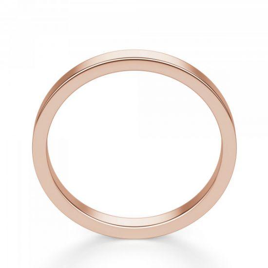 Золотое кольцо простое 3 мм,  Больше Изображение 3