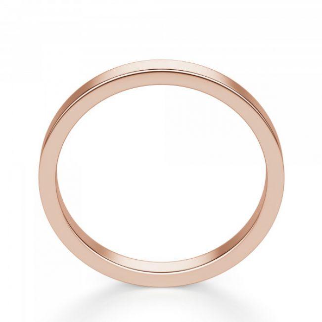 Золотое кольцо простое 3 мм - Фото 2