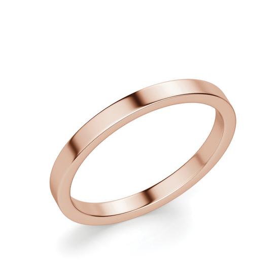 Золотое кольцо простое 3 мм, Больше Изображение 1