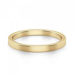 Кольцо из золота простое 3 мм