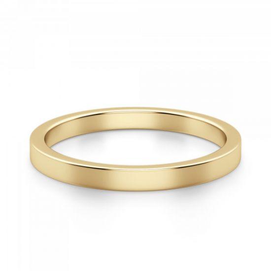 Кольцо из золота простое 3 мм,  Больше Изображение 2