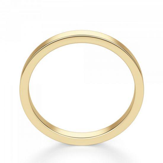 Кольцо из золота простое 3 мм,  Больше Изображение 3