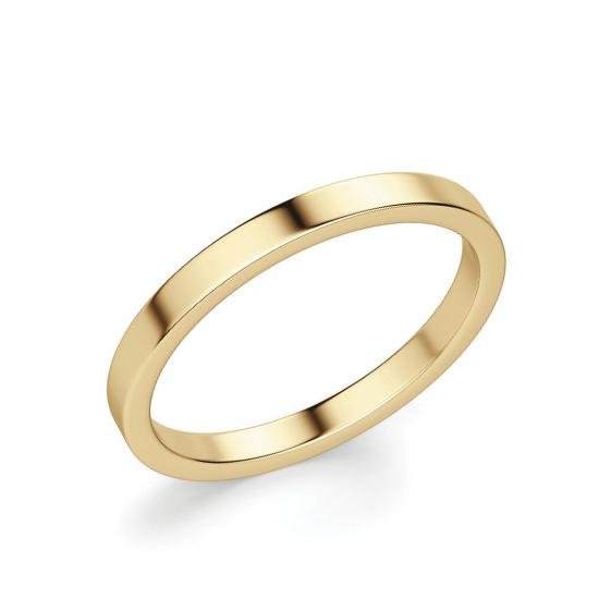 Кольцо из золота простое 3 мм, Больше Изображение 1