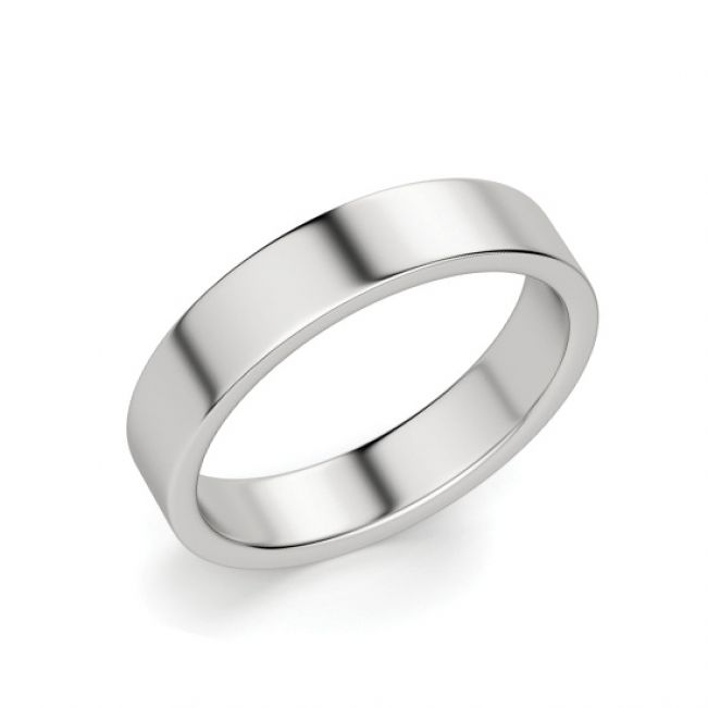 Кольцо 4 мм из белого золота 750 пробы