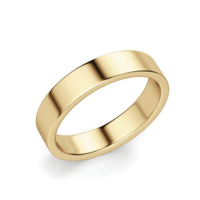 Кольцо 4 мм из золота 750 пробы