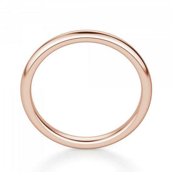 Тонкое кольцо без камней из розового золота,  Больше Изображение 3