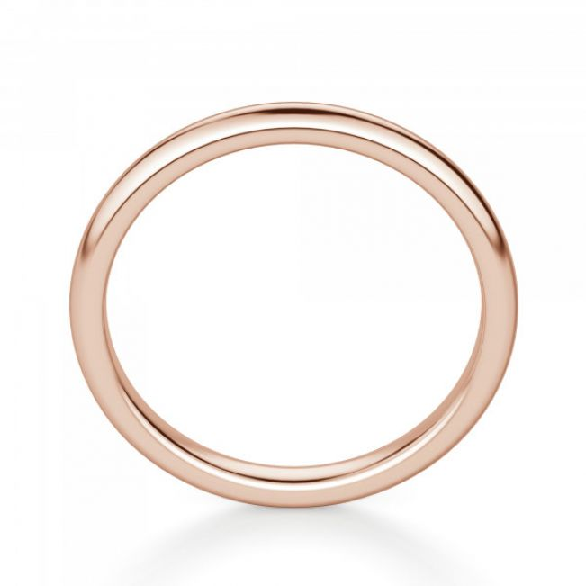 Тонкое кольцо без камней из розового золота