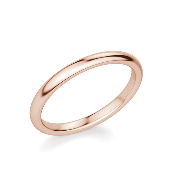 Тонкое кольцо без камней из розового золота, Больше Изображение 1