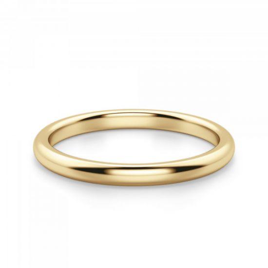 Золотое кольцо 3 мм без камней,  Больше Изображение 2