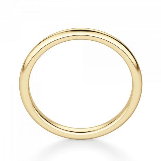 Золотое кольцо 3 мм без камней,  Больше Изображение 3