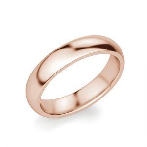 Кольцо 4 мм из розового золота 750 пробы