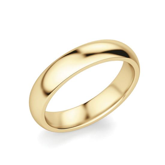 Кольцо 4 мм из желтого золота 750 пробы, Больше Изображение 1