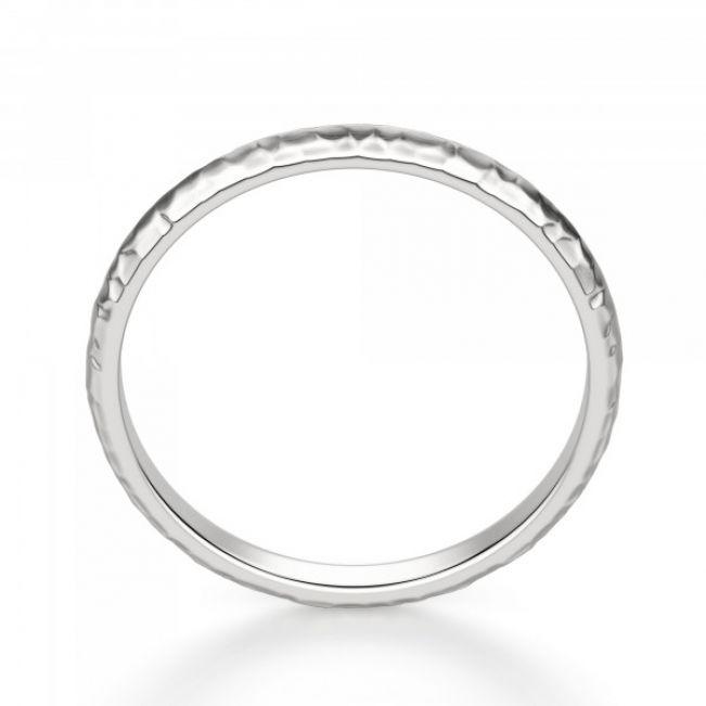 Кольцо простое из золота с фактурой
