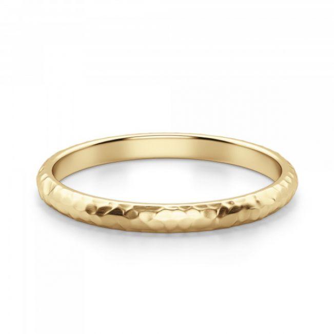 Кольцо простое из золота - Фото 2