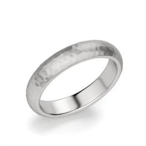 Кольцо 4 мм из золота с фактурой