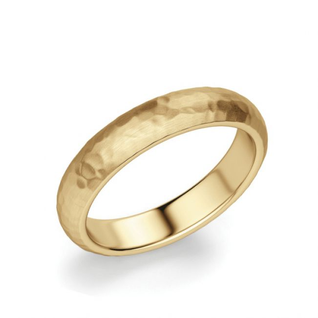 Кольцо мужское из желтого золота
