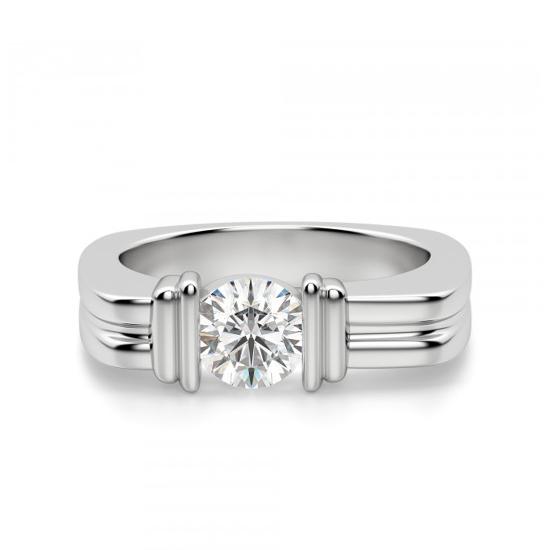 Современное кольцо с бриллиантом, Больше Изображение 1