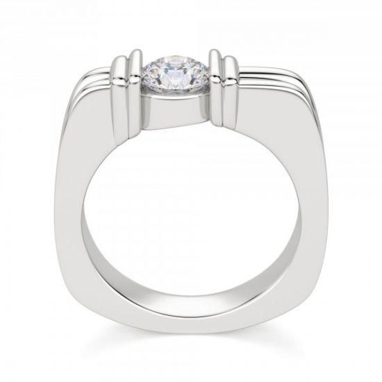 Современное кольцо с бриллиантом,  Больше Изображение 2