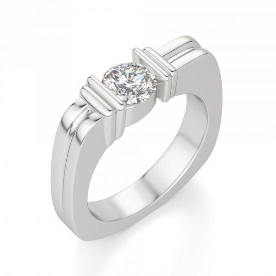 Современное кольцо с бриллиантом,  Больше Изображение 3