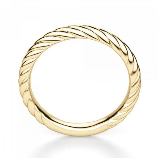 Кольцо из желтого золота 750 пробы в стиле каната,  Больше Изображение 3