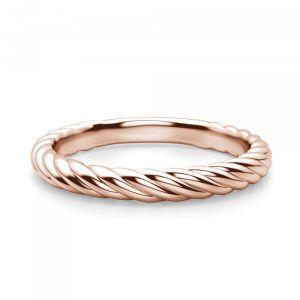 Тонкое плетеное кольцо из розового золота
