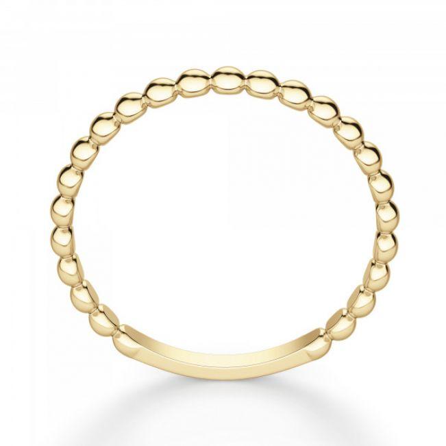 Кольцо с шариками из желтого золота