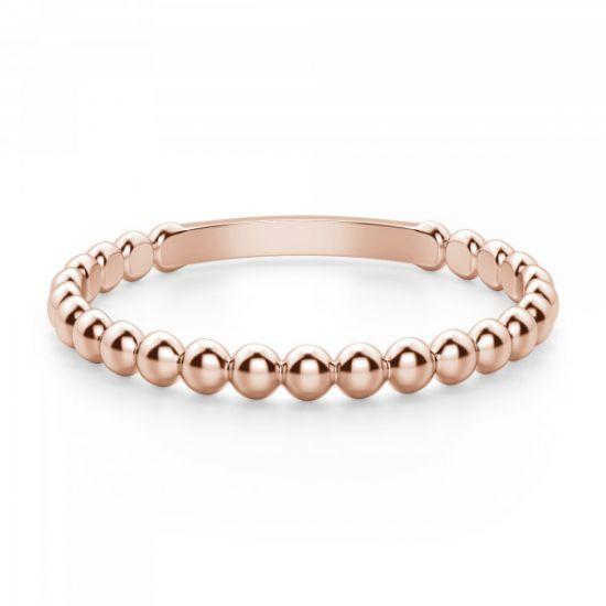 Кольцо с шариками из розового золота,  Больше Изображение 2
