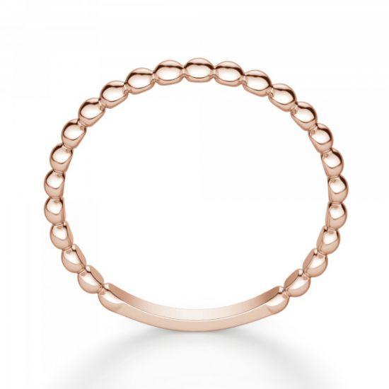 Кольцо с шариками из розового золота,  Больше Изображение 3