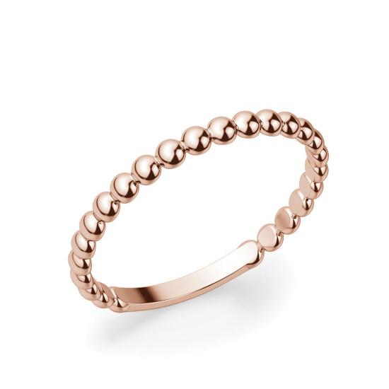 Кольцо с шариками из розового золота, Больше Изображение 1