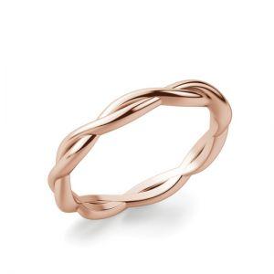 Кольцо плетеное из золотого золота 750 пробы