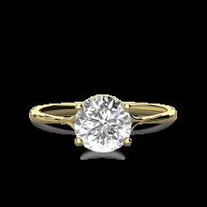 Тонкое кольцо солитер с бриллиантом