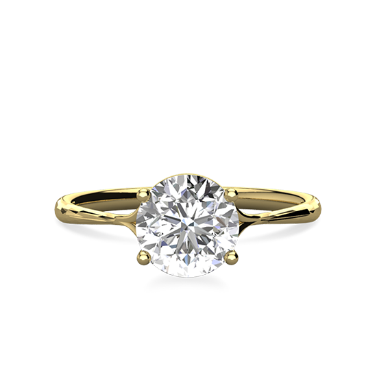 Кольцо солитер с бриллиантом, Больше Изображение 1
