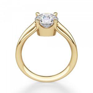Кольцо двойное с 1 бриллиантом