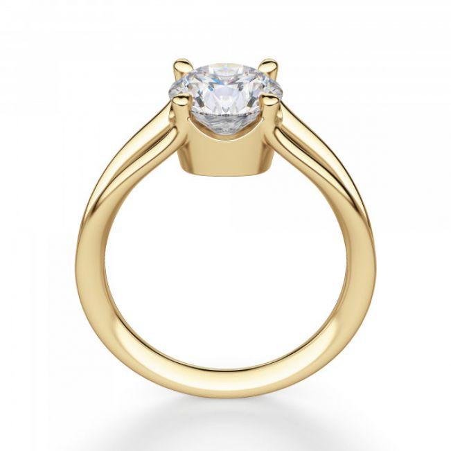 Кольцо двойное с 1 бриллиантом - Фото 1