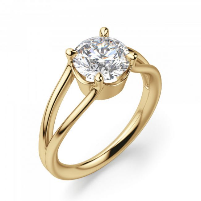Кольцо двойное с 1 бриллиантом - Фото 3