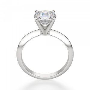 Классическое кольцо с круглым бриллиантом