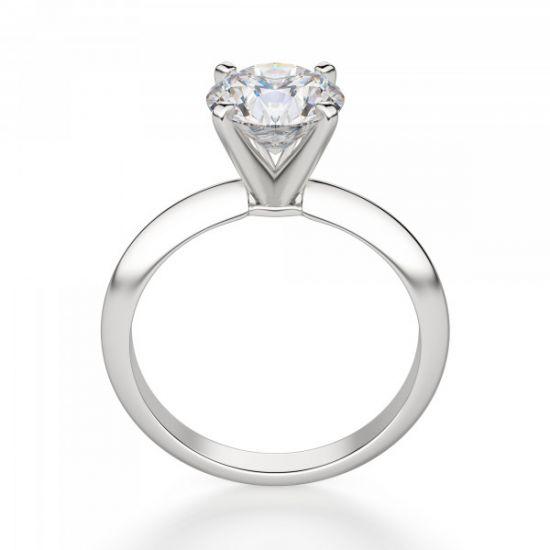 Классическое кольцо с круглым бриллиантом,  Больше Изображение 2