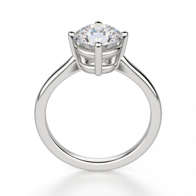 Кольцо с бриллиантом с крапанами по сторонам - Фото 1