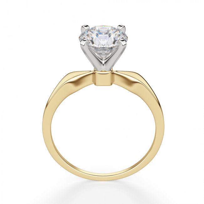 Кольцо с сужающейся шинкой с бриллиантом