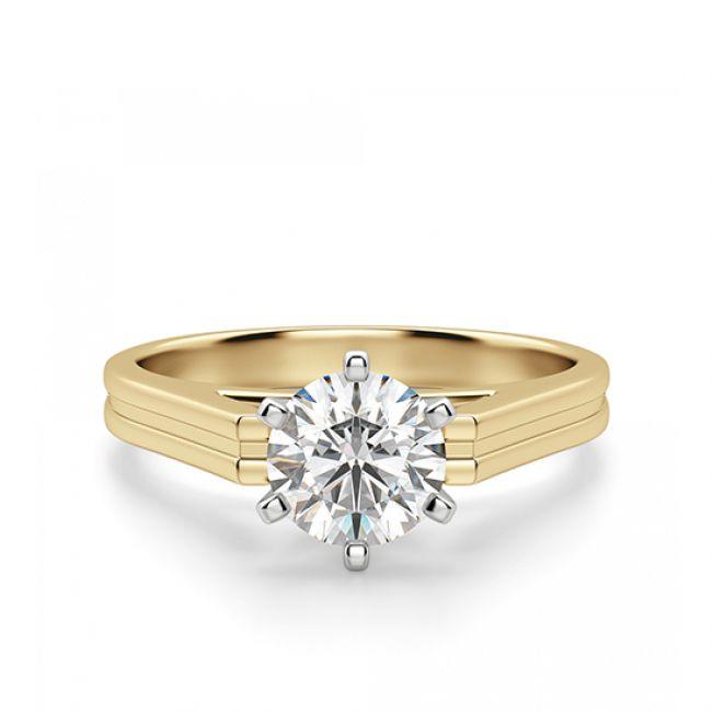 Кольцо с прямоугольной шинкой с бриллиантом