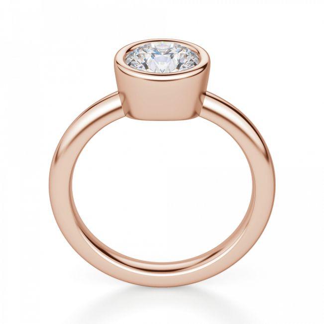 Кольцо с бриллиантом в розовом золоте