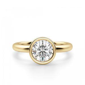 Кольцо с бриллиантом в желтом золоте