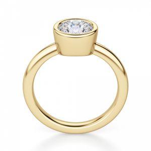 Кольцо с бриллиантом в желтом золоте - Фото 1