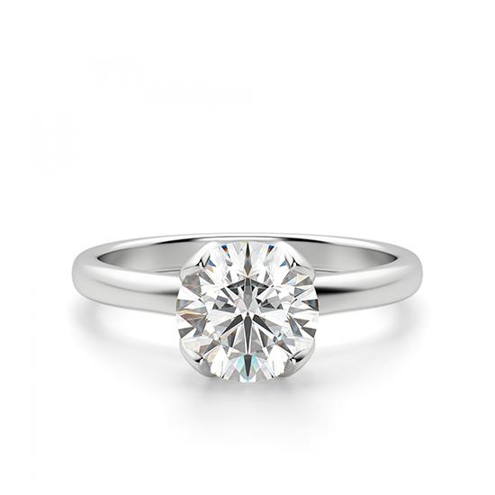 Кольцо с бриллиантом в лепестках, Больше Изображение 1