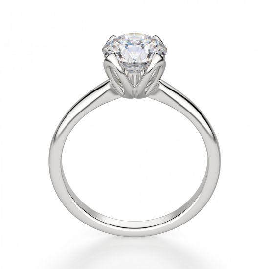 Кольцо с бриллиантом в лепестках,  Больше Изображение 2