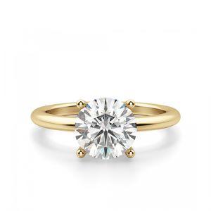 Кольцо тонкое солитер с бриллиантом