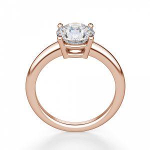 Кольцо тонкое с круглым бриллиантом 1 кт - Фото 1