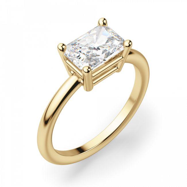 Кольцо с перевернутым бриллиантом Радиант